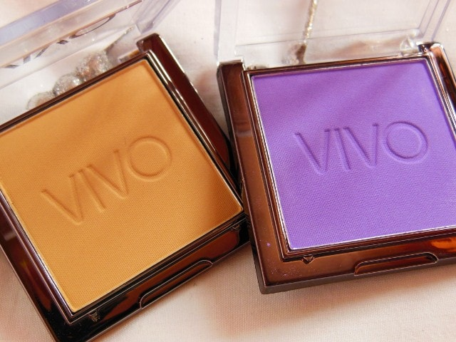 VIVO Matte Eye shadows in Purple Passion and  Sandstorm