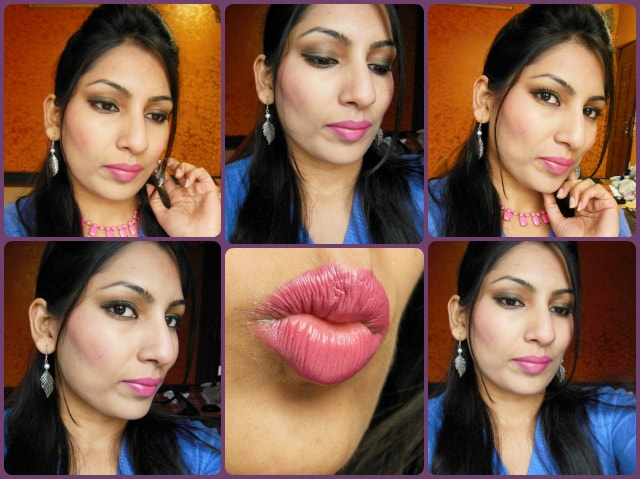 What Am I Wearing Today - Look with Olive Green Eyes and Pink Lips