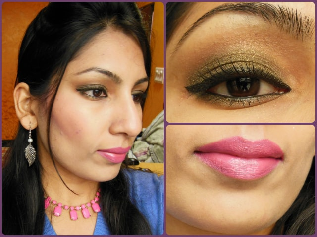 What Am I Wearing Today - Olive Green Eyes and Pink Lips