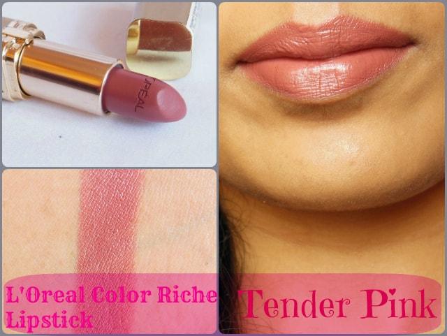 L'Oreal Paris Color Riche Lipstick Tender Pink 114 Look
