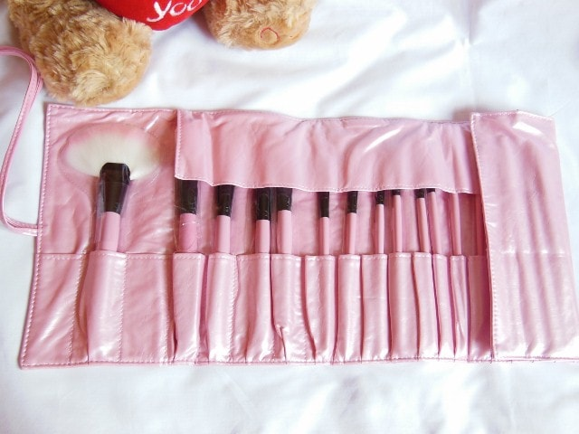 TMart 22 Piece Pink Brush Set and Pouch