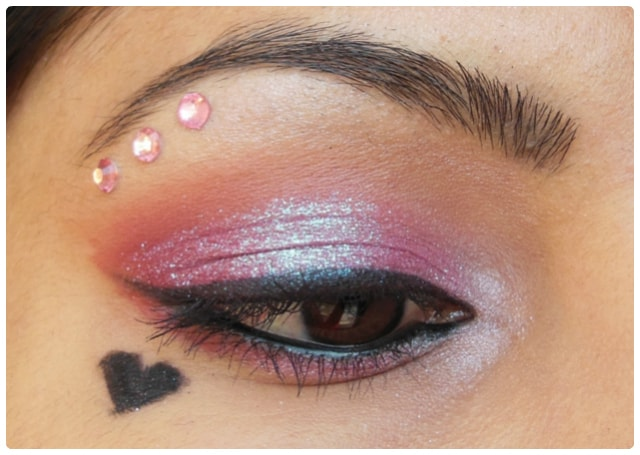Valentines Day Inspired Eye Makeup Look - Pink Love