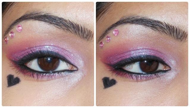 Valentines day Eye Makeup Look - Pink Love