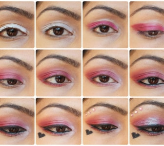 Valentines day Eye Makeup Look Tutorial - Pink Love