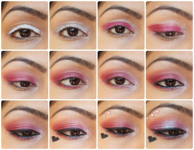 Valentines day Eye Makeup Look Tutorial - Pink Love