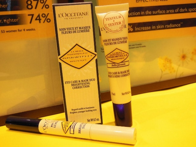 L'Occitane Brightening Immortelle New Launch - Brightening Eye care and Mask Duo, Concealer