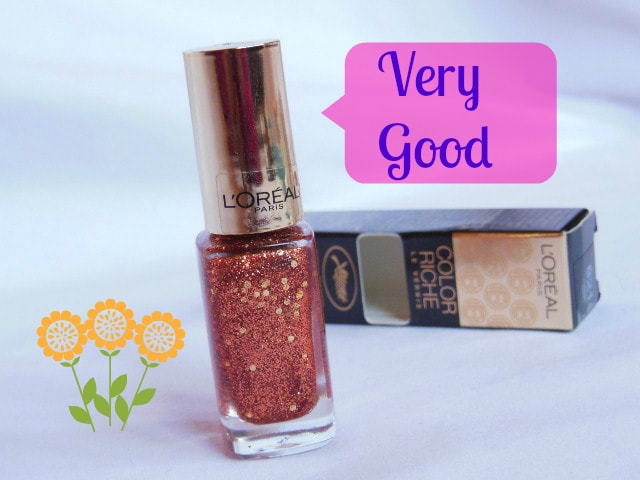 Makeup MarkSheet -Very Good - L'Oreal Color Riche Nail Vernis Copper Cuff