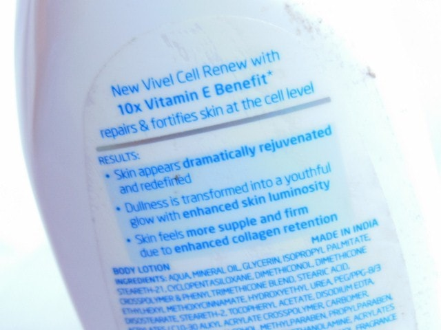Vivel Cell Renew Fortify & Repair Body Lotion Claims