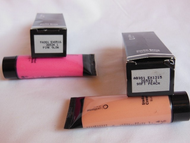 Oriflame Studio Artist Blushes in Soft peach and Pink Glow