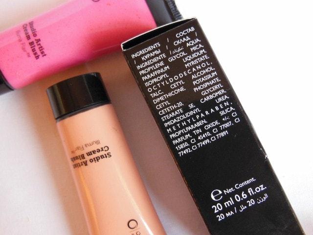 Oriflame Studio Artist Cream Blushes Ingredients