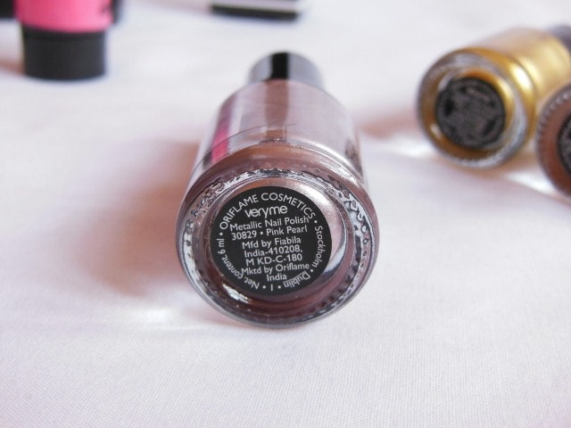 Oriflame very Me Metallic Nail Paint - Pink Pearl Review