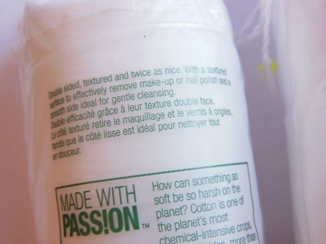 The Body Shop Organic Cotton Rounds Claims