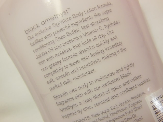 Bath and Body Works Body Lotion Dark Amethyst Claims