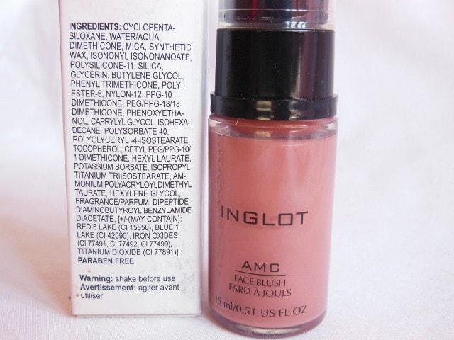 INGLOT AMC Liquid Blush #81 Ingredients