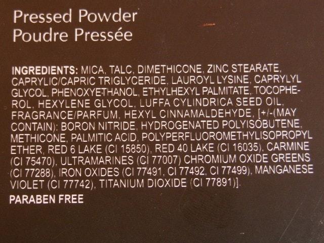 INGLOT Pressed Powder Ingredients