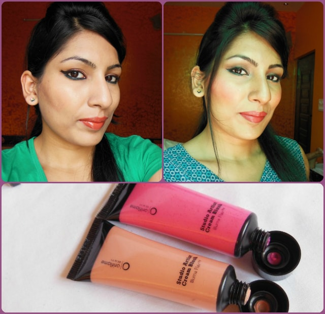 Oriflame Studio Artist Cream Blushes in Pink Glow and Soft Peach Look