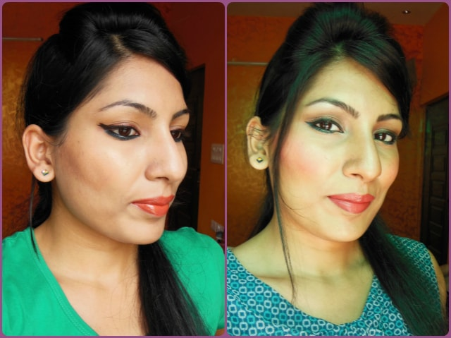 Oriflame cream Blushes in Pink Glow and Soft Peach FOTD