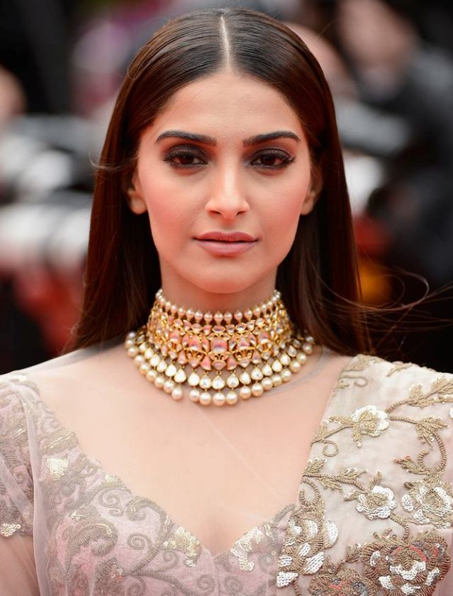 Sonam Kapoor  in Anamika Khanna Saree at Cannes 2014