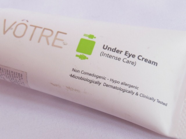 Votre Under Eye Cream Intense care Review