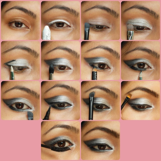 Black Gray Smokey Eye Makeup Tutorial