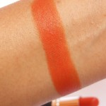 Chambor Powder Matte Orange Flambe Lipstick Swatch2