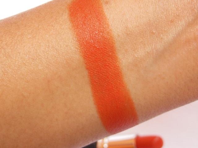 Chambor Powder Matte Orange Flambe Lipstick Swatch2