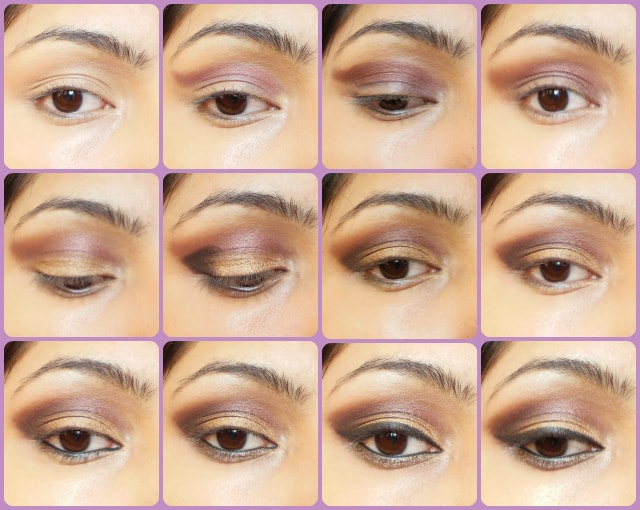 Eye Makeup Tutorial - Gold Plum Smokey Eyes