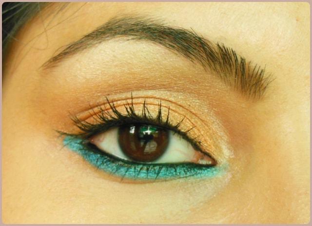 Eye Makeup Tutorial - Orange Obsession, Orange and Blue Eyes
