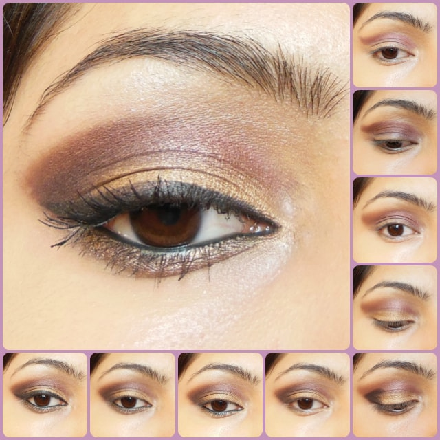 Eye Makeup Tutorial - Plum and Gold smokey eyes