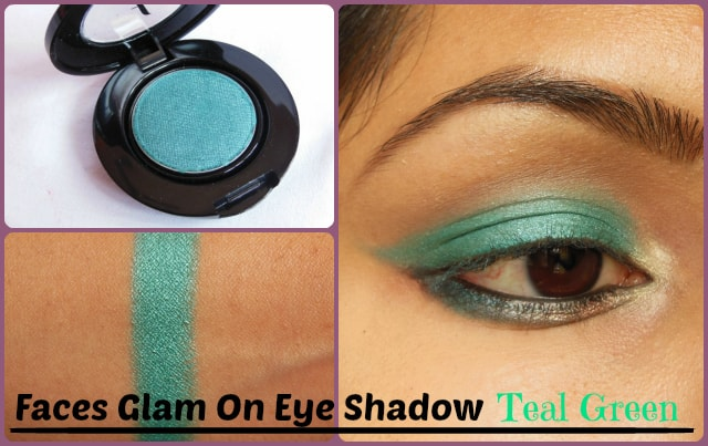Faces Canada Single Eye Shadow Teal Green EOTD