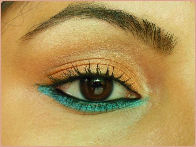 Favorite Eye Makeup - Bright Orange Eyes