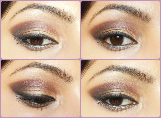 Gold and Plum Eye Makeup Look