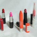 Lipstick Obsession - MAC Candy Yum Yum, MAC Lady Bug, Revlon Colorburst, Shiseido, Stila