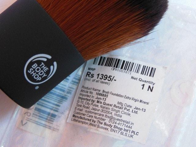 The Body Shop Extra Virgin Minerals Powder Foundation Brush Price