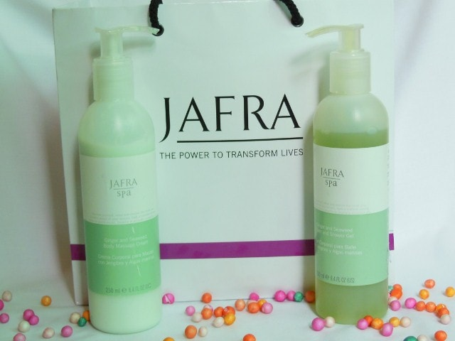 Jafra Spa Ginger and Seaweed Bath and Shower Gel and Body Massage Cream