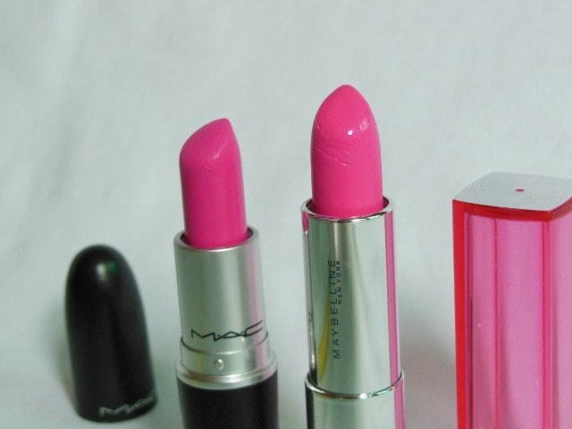MAC Candy Yum Yum Dupe - Maybelline Pow 1 Lipstick