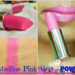 Maybelline ColorSensational Pink Alert Pow1 Lipstick Look