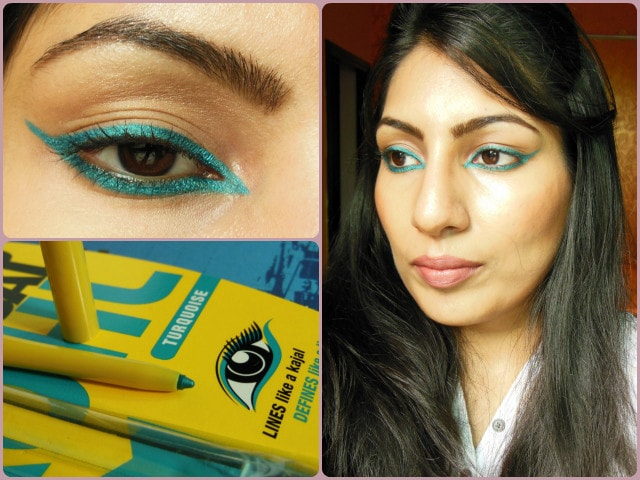 Maybelline Colossal Kohl Turquoise Look