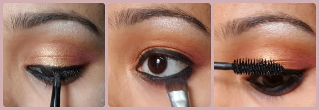 South Indian Wedding Eye Makeup Look Step 3