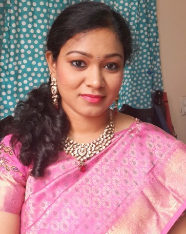 Traditional South Indian Wedding Makeup Look 1