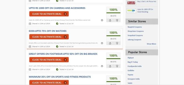 Zoutons.com Coupon website