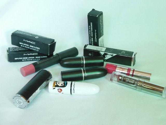 Birthday makeup Haul Lipsticks - Lakme, Lancome, MAC, Givenchy