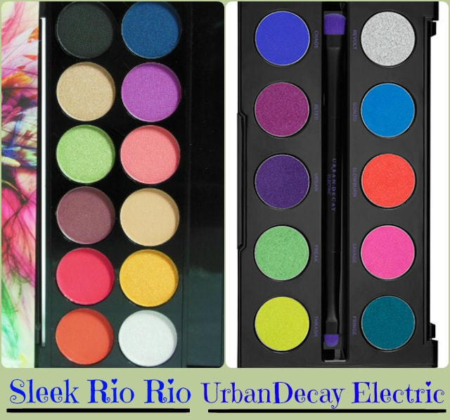 Dupe Discovered - Urban Decay Electric Eye Shadow Palette, Sleek Ro rio