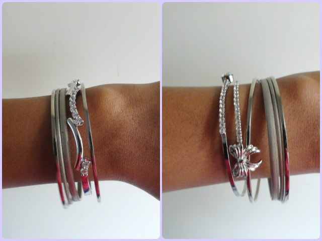 How to wear statement accessory - Layering Bracelets