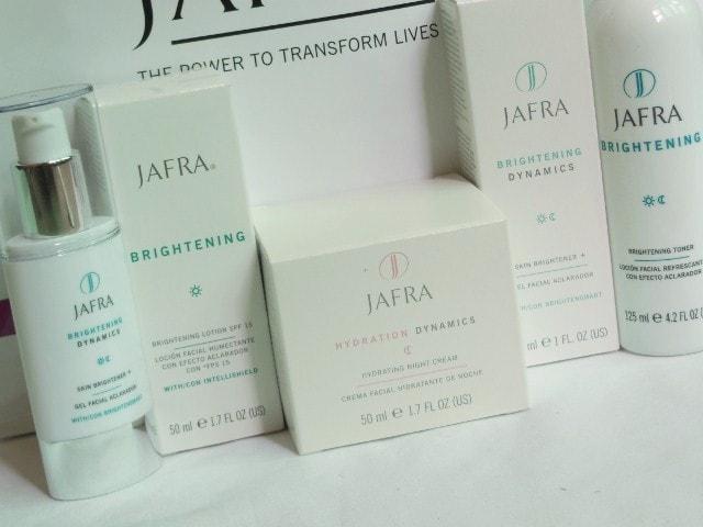 Jafra Brightening and  Dynamics Skin Care Range