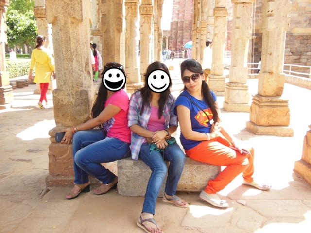 Posing In Qutab Minar