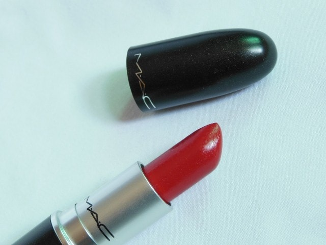 MAC Lustre Lipstick Lady Bug Review