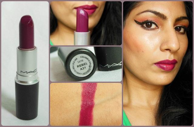 MAC Satin Lipstick Rebel Look