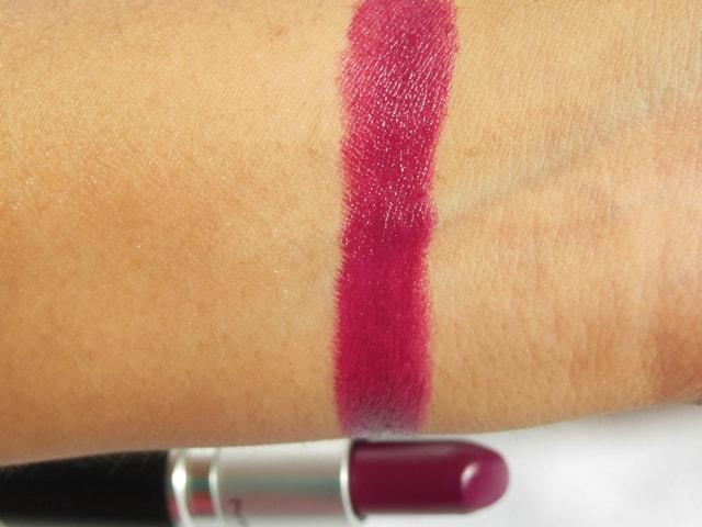 MAC Satin Lipstick Rebel Swatch