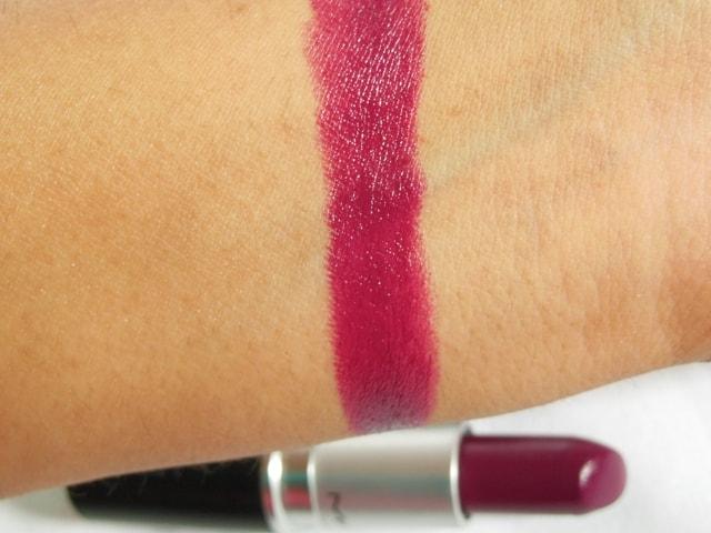 MAC Satin Rebel Lipstick Swatch